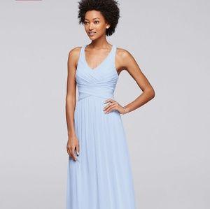 Mesh Long Bridesmaid Dress- W10974